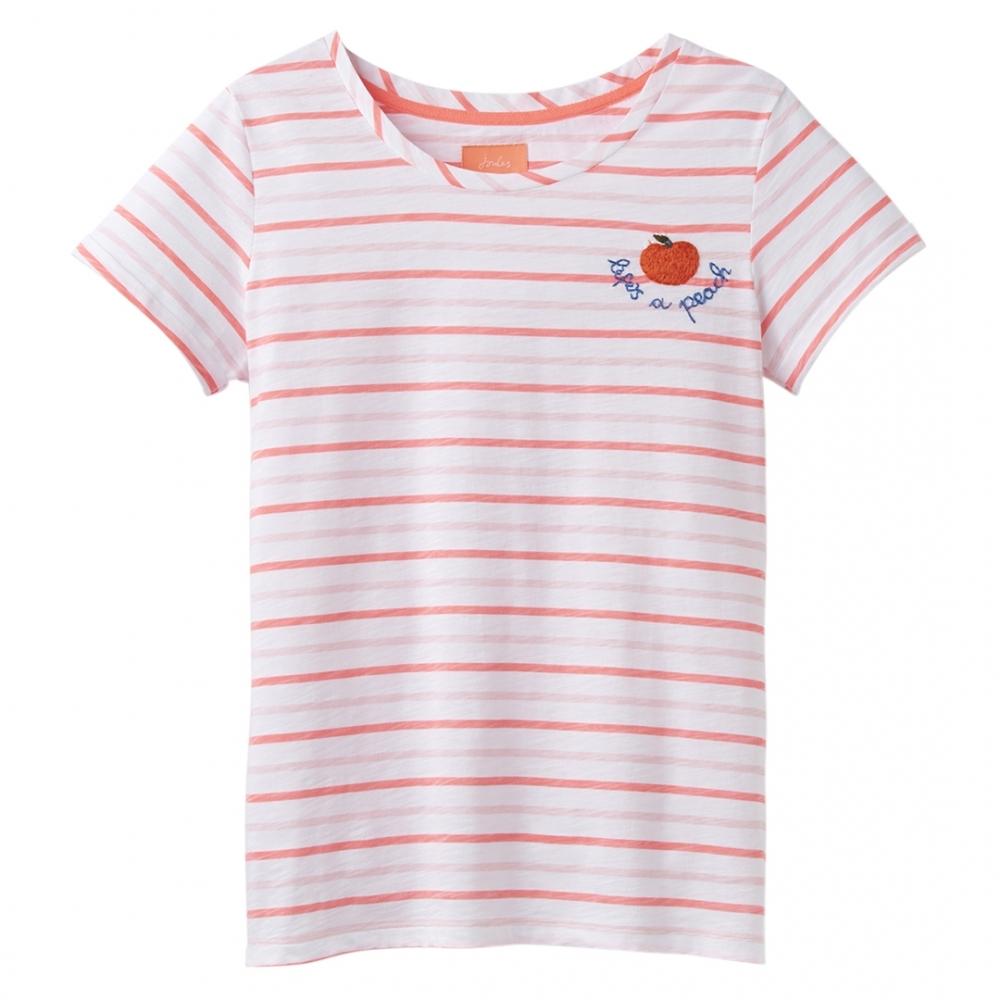 99877727 Joules Nessa Emb Womens Lightweight Jersey T-Shirt S/S 19
