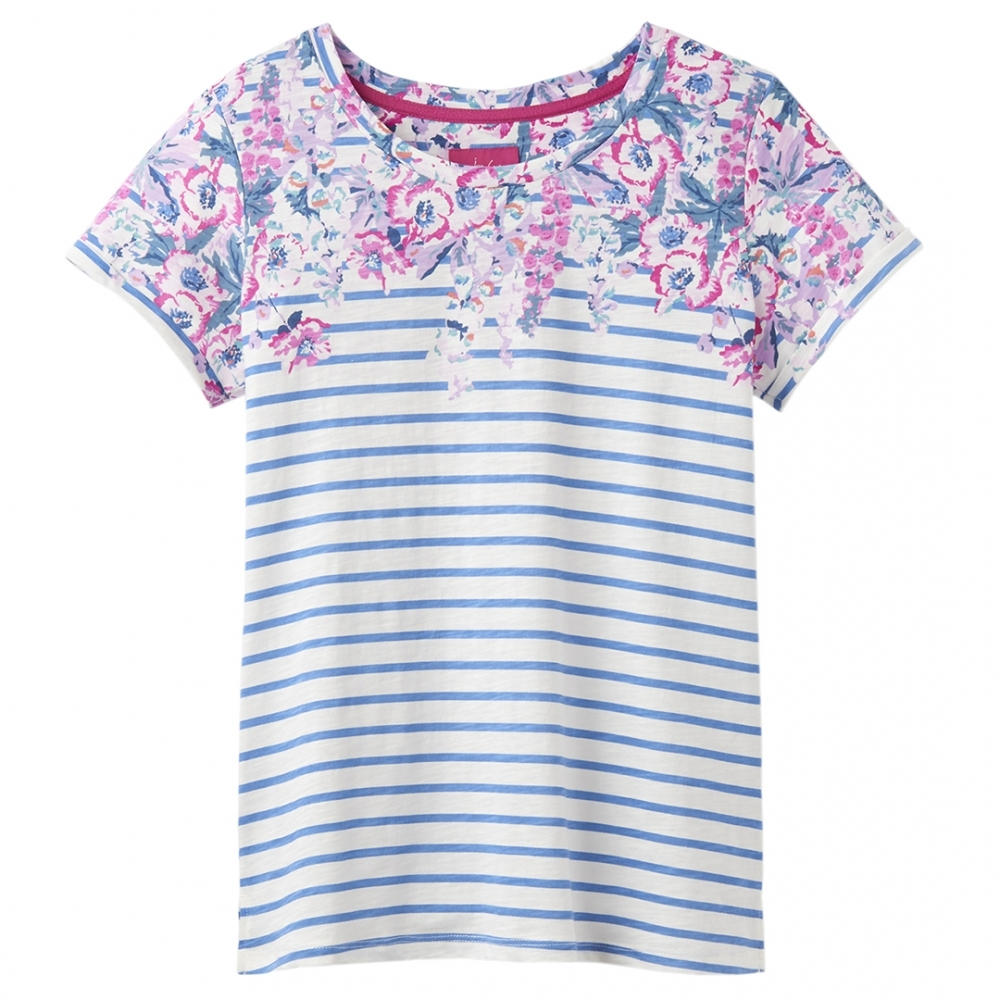 f15ce88f44fa87 Joules Nessa Print Womens Lightweight Jersey T-Shirt S/S 19