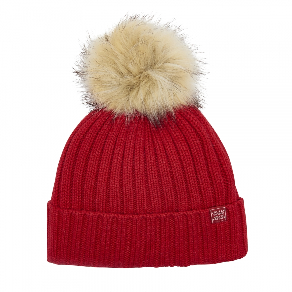 Joules Popper Pom Womens Hat (X) - Valentines Day Gifts For Her from ... 2bea9721be4