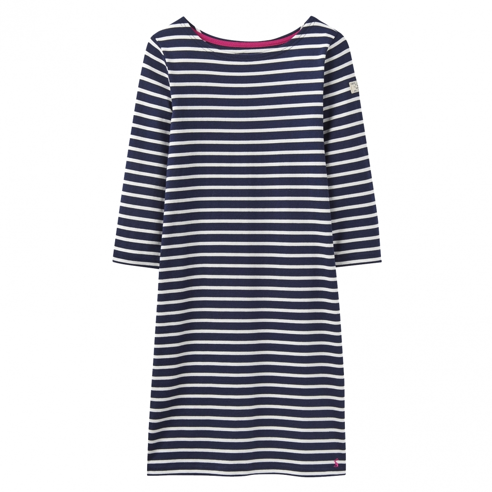 23b1cd564d7 Joules Riviera 3/4 Sleeve Striped Womens Dress (Z) - Womens from CHO ...