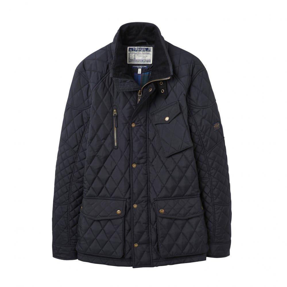 Joules Stafford Mens Quilted Biker Jacket (T) - Mens from CHO ... : mens joules quilted jacket - Adamdwight.com