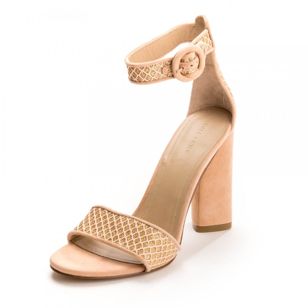 Kendall + Kylie Giselle Nude Womens Sandal Heels