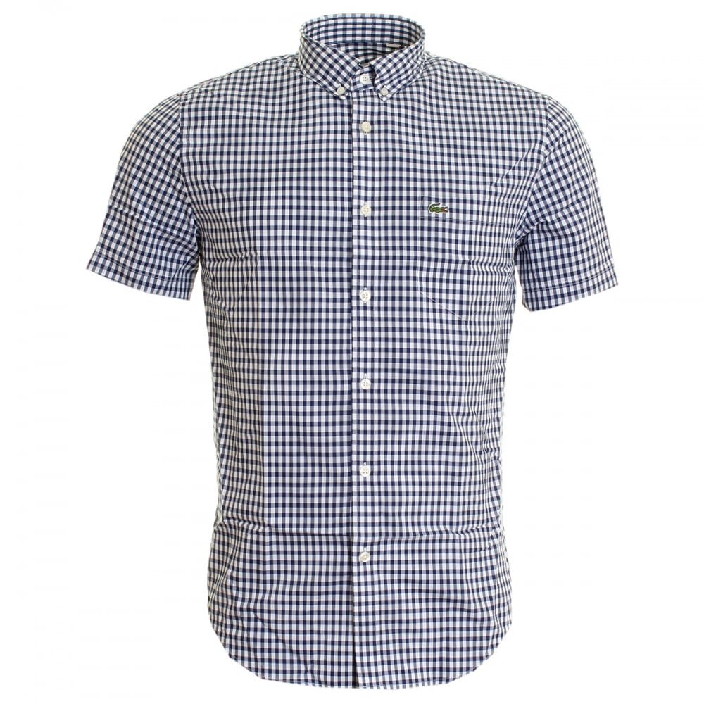 7bc818e7c6fc44 Lacoste Gingham Check BD Short Sleeve Mens Shirt - Mens from CHO ...