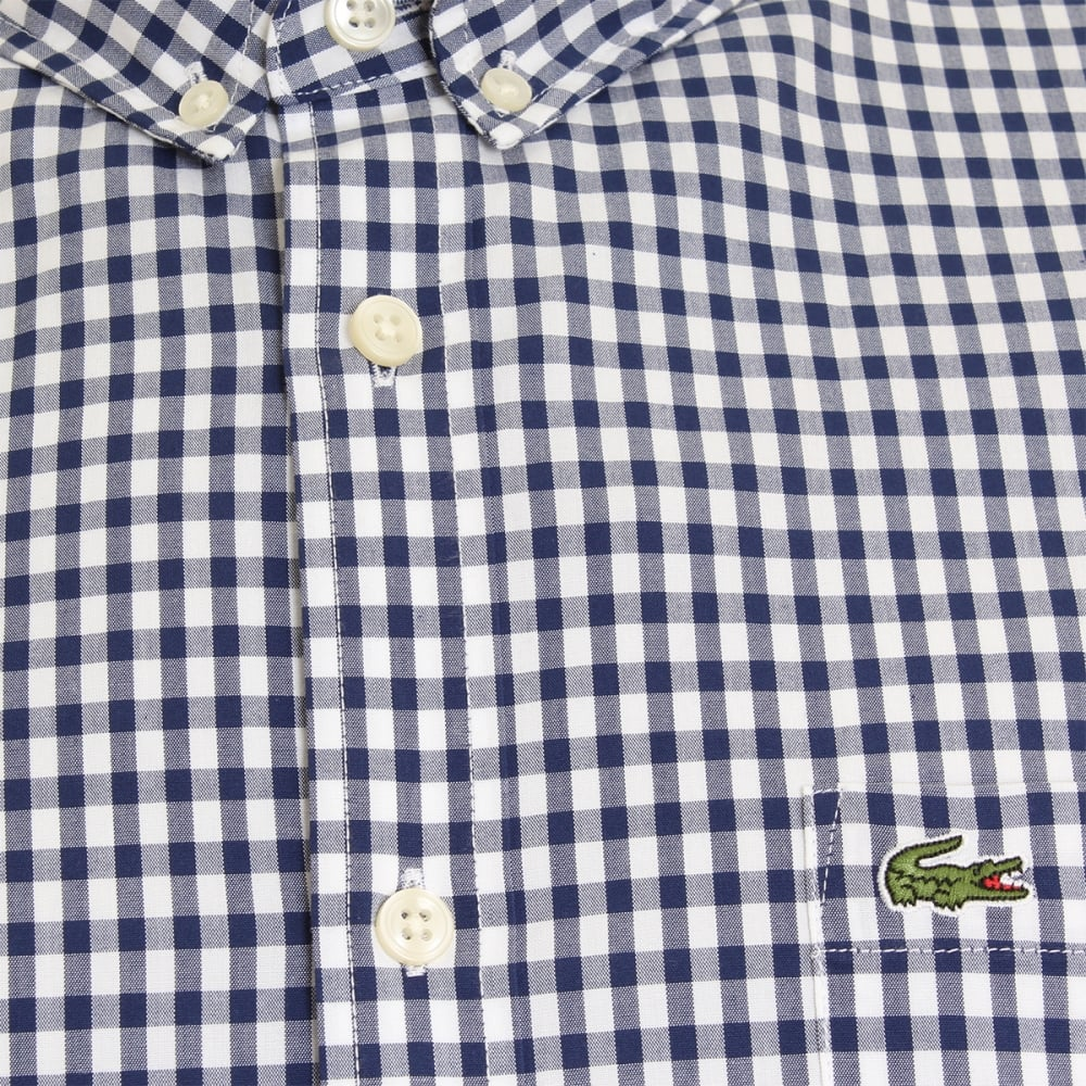 4a2bb0241be Lacoste Gingham Check BD Short Sleeve Mens Shirt - Mens from CHO ...