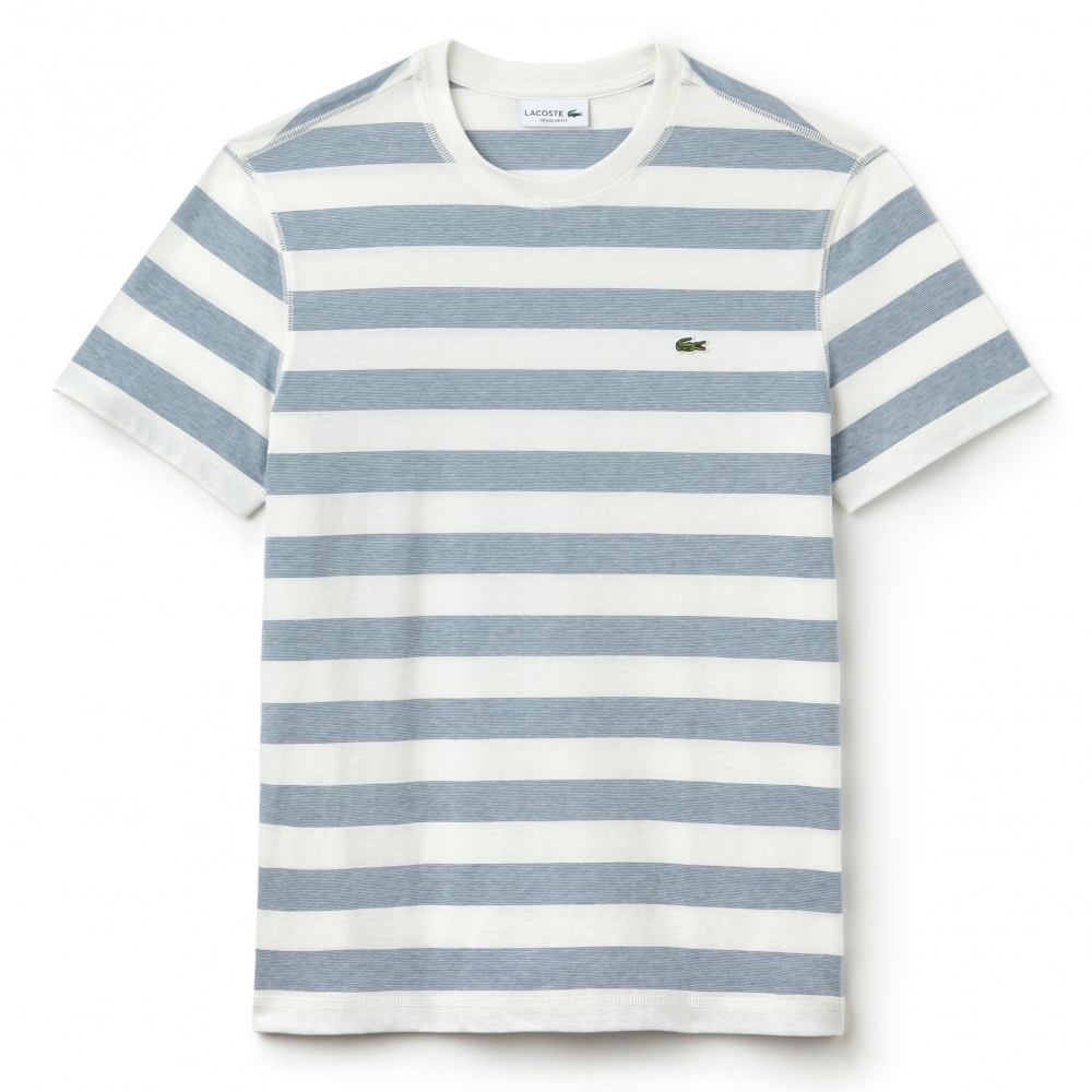 lacoste mens striped short sleeved shirt th3247 mens. Black Bedroom Furniture Sets. Home Design Ideas