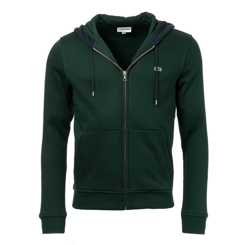 552cf5f21f7 Lacoste Mens Zip Hooded Sweatshirt SH9204-00 - Mens from CHO Fashion ...