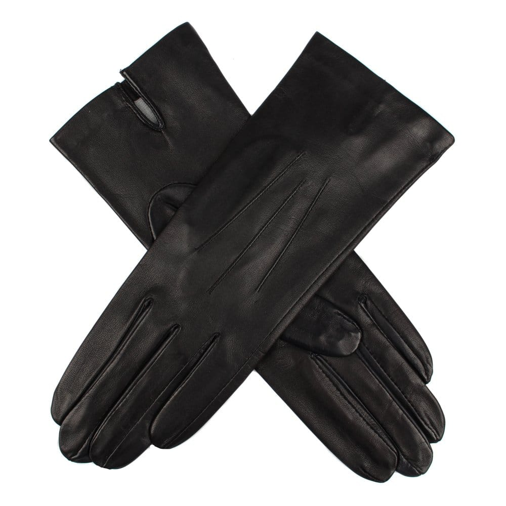 Ladies leather gloves with silk lining - Dents Ladies Leather Glove Lined Silk