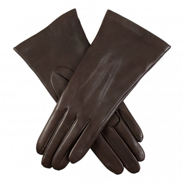 Leather 3 Points Cashmere Ladies Gloves