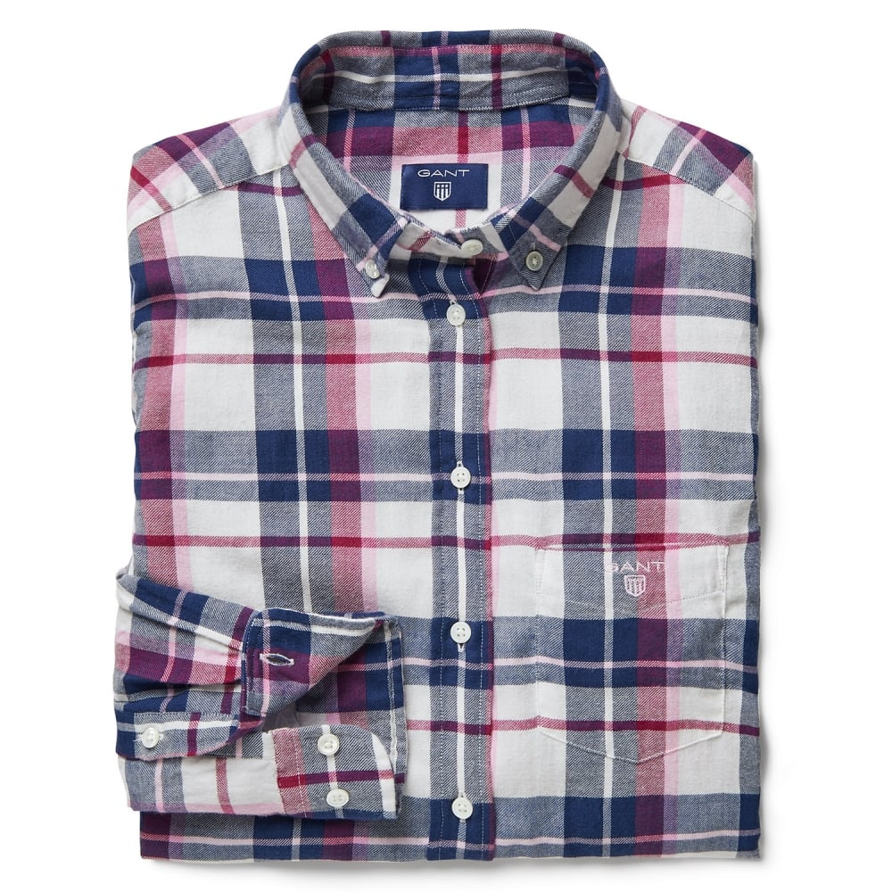 c44e2acf9 GANT Light Cotton Flannel Check Ladies Shirt - Womens from CHO ...