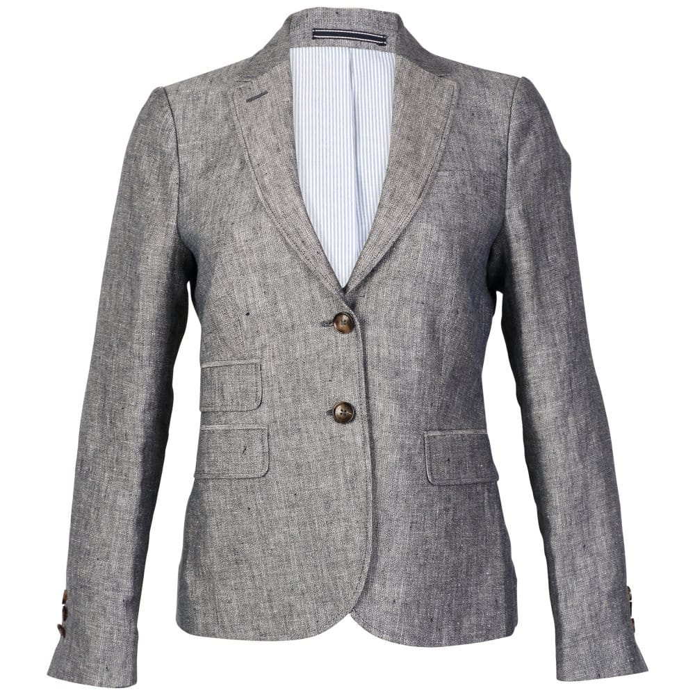 Gant Linen Ladies Blazer With Elbow Patches Womens From