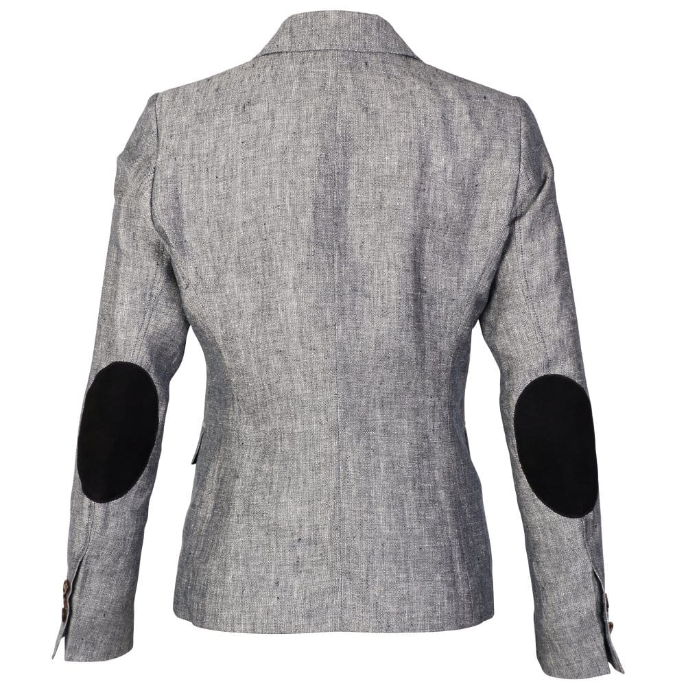Gant Linen Ladies Blazer With Elbow Patches Gant From