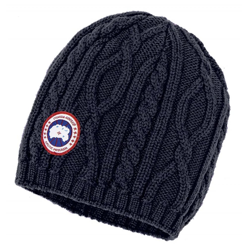 989e452b05b72 Canada Goose Merino Ladies Cable Knit Beanie - Accessories from CHO Fashion  and Lifestyle UK