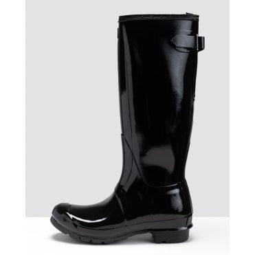 Original Back Adjustable Gloss Ladies Wellington Boots
