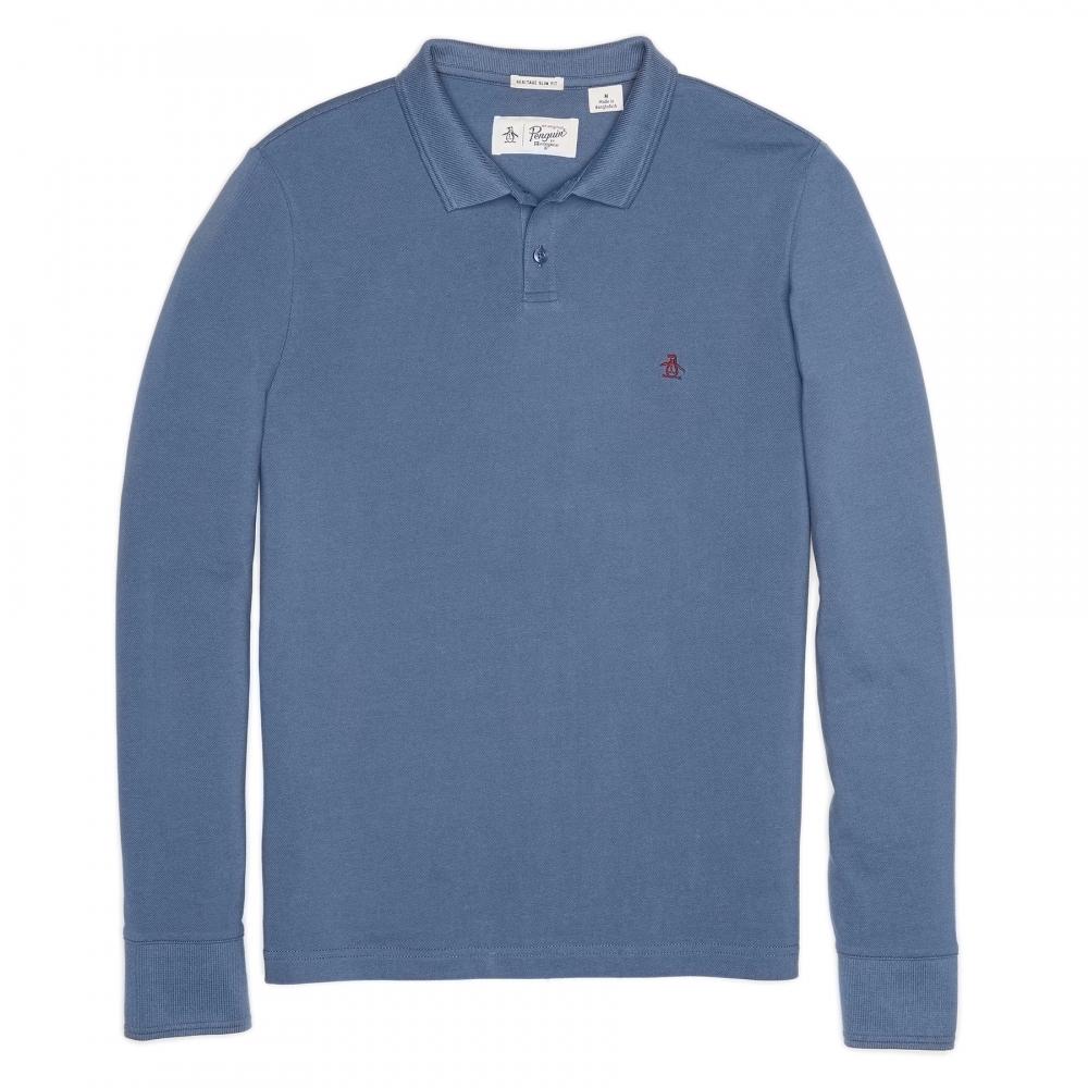 Original Penguin Long Sleeve Pique Mens Polo Shirt - Mens from CHO ... d398c30cb050