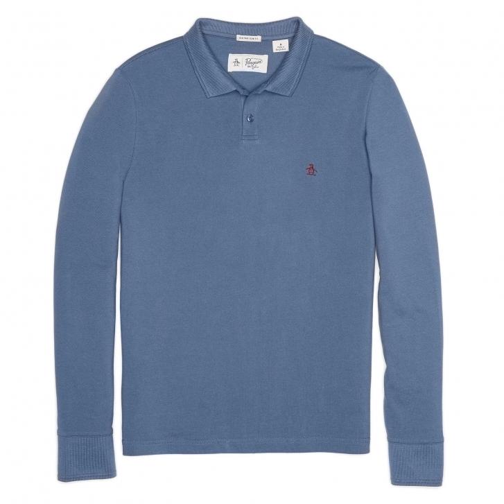 Original penguin long sleeve pique mens polo shirt mens for Mens long sleeve pique polo shirts
