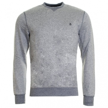 Original Penguin Tri-Colour Mouline Loopback Mens Sweatshirt