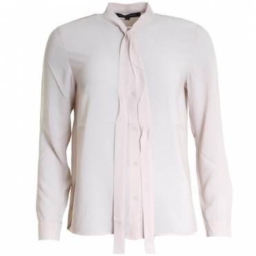Pippa Plains Tie Neck Ladies Shirt