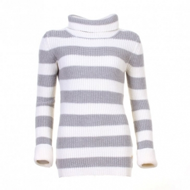 Pure Stripe Ladies Turtle Neck