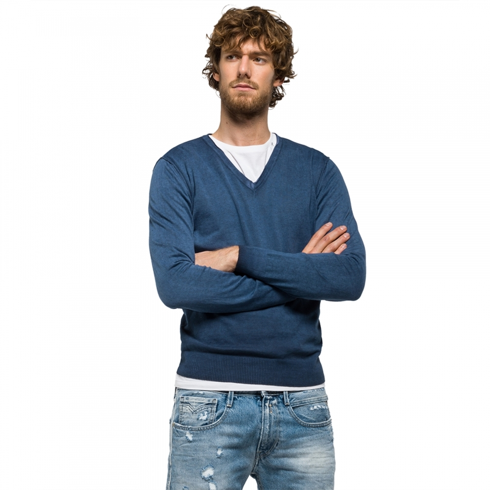 Replay Inside Fade Cotton Mens Jumper - Mens from CHO Fashion and ... 6e03450c97d5