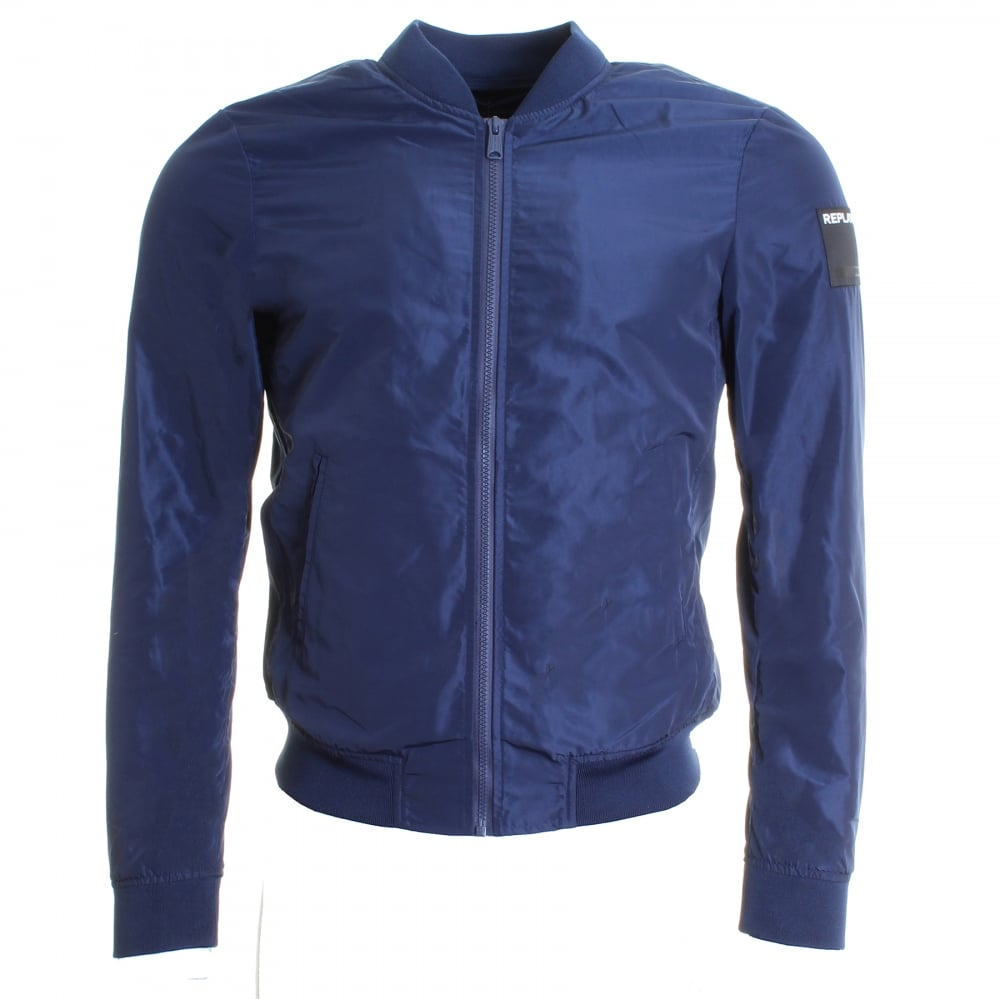 replay solid shiny mens jacket mens from cho fashion and