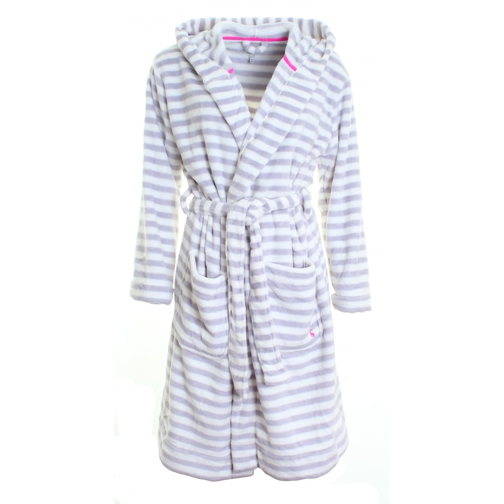 Joules Rita Fluffy Hooded Dressing Gown (V) - Womens from CHO ...