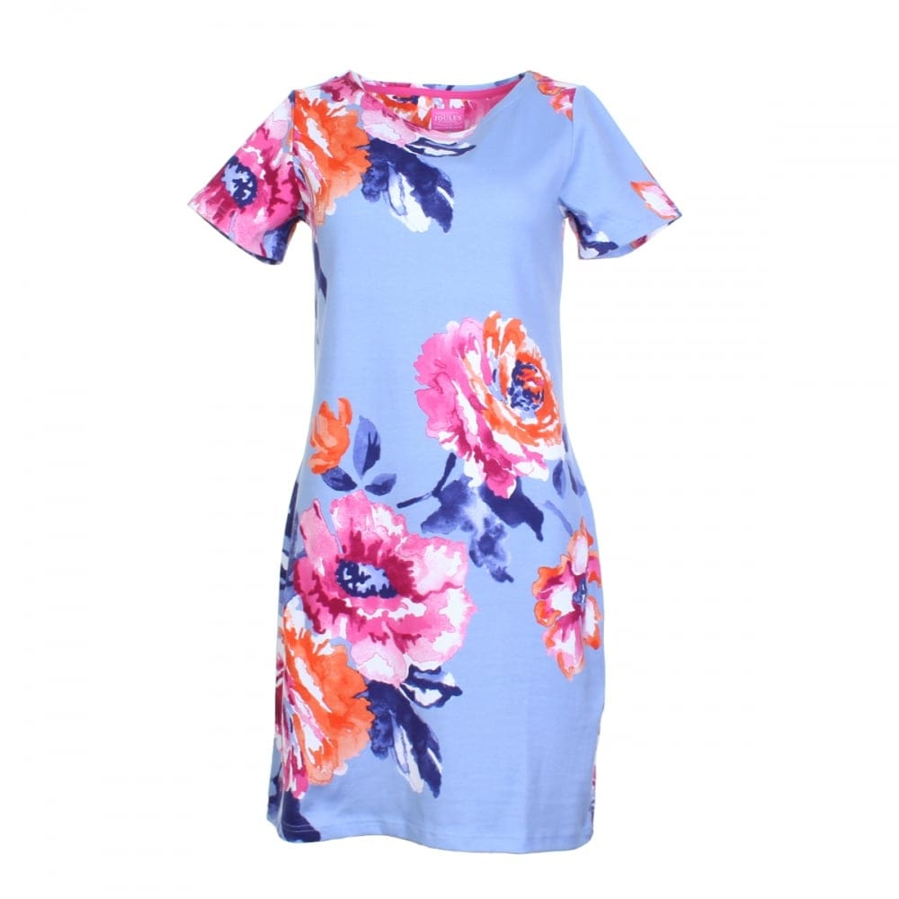 Joules riviera print jersey t shirt dress u womens for Cheap t shirt printing next day delivery
