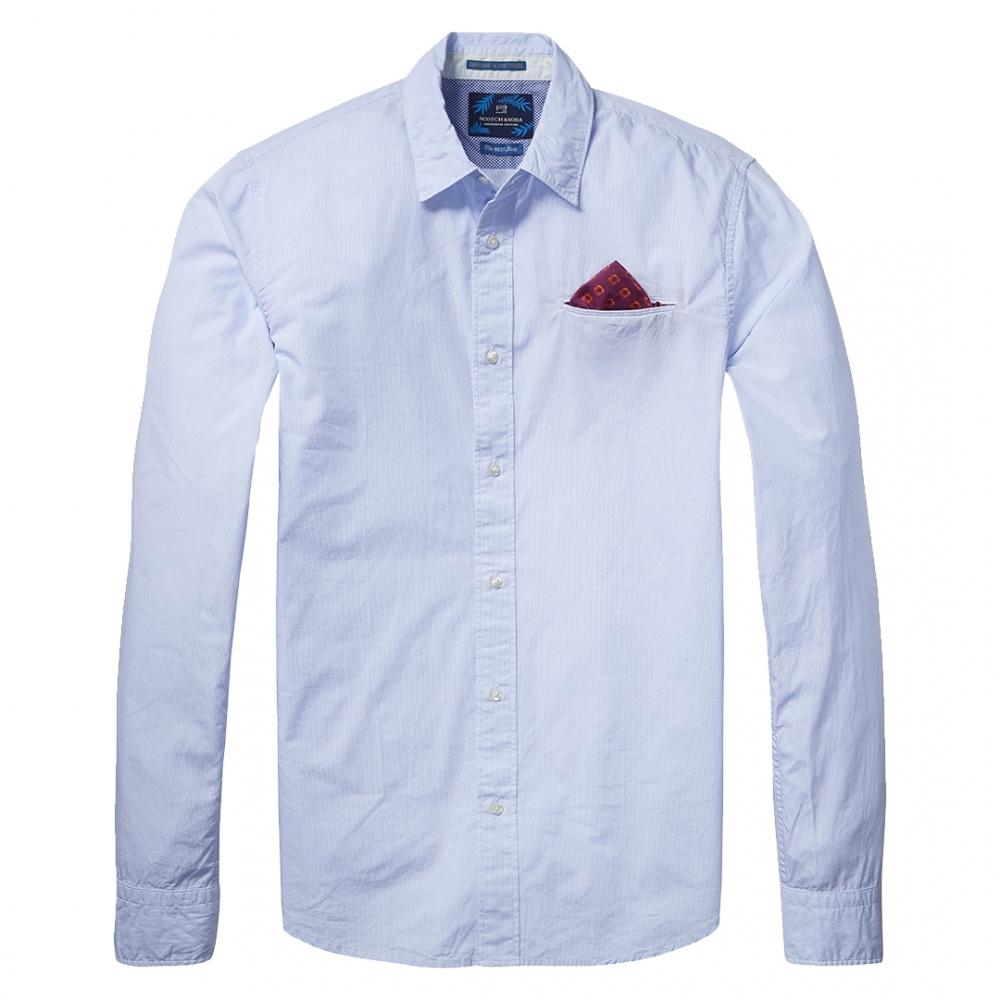 scotch soda long sleeve mens lightweight shirt mens. Black Bedroom Furniture Sets. Home Design Ideas