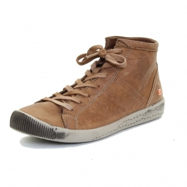 Isleen Washed Leather Womens High Top