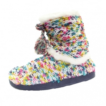 Spacey Ladies Bobble Knit Bootie