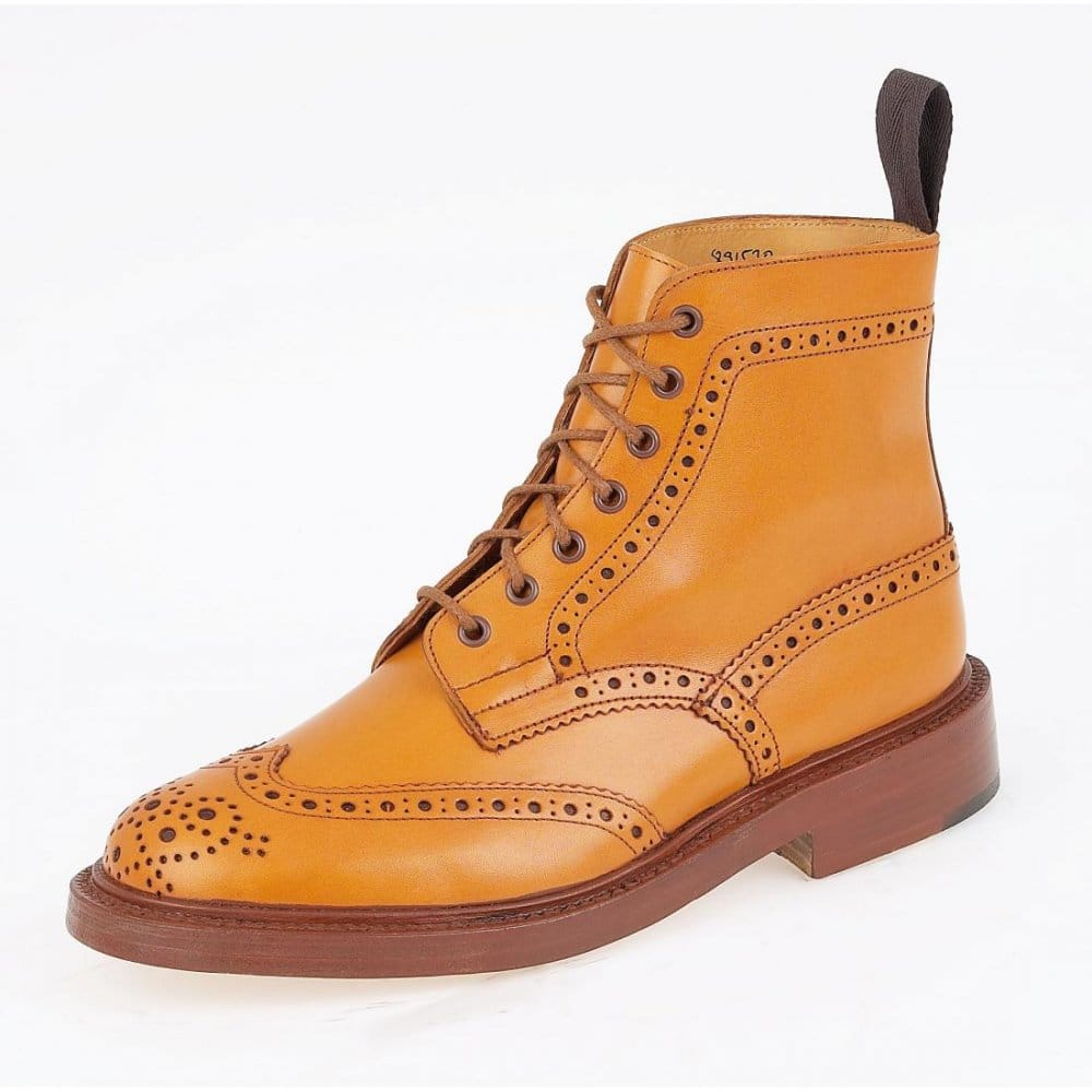 trickers stow brogue derby mens boot shoes boots