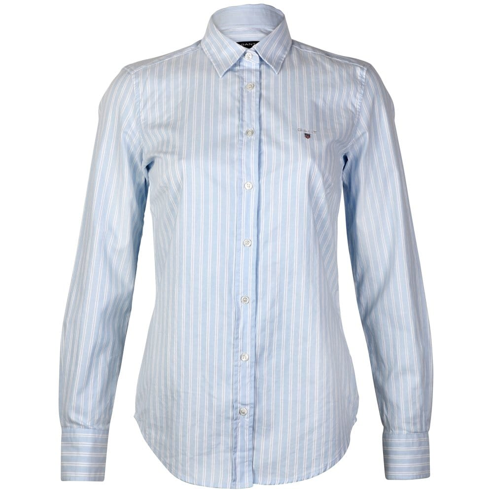 GANT Stretch Oxford Twin Stripe Ladies Shirt - Womens from ...