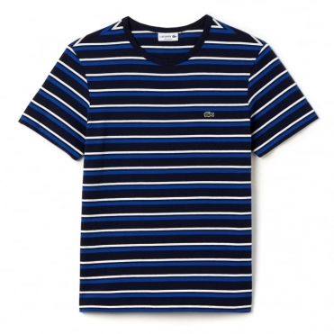 Striped Crew Neck Mens Jersey T-Shirt