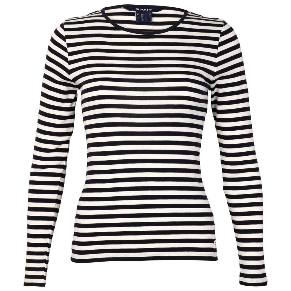 Collection of womens black and white striped long sleeve t for Black and white striped long sleeve shirt women