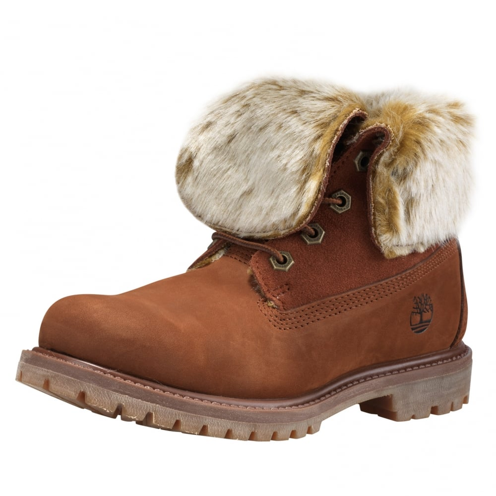 e0f8e17bef1 Timberland Authentics Faux Fur Fold Down Womens Boot - Footwear from ...