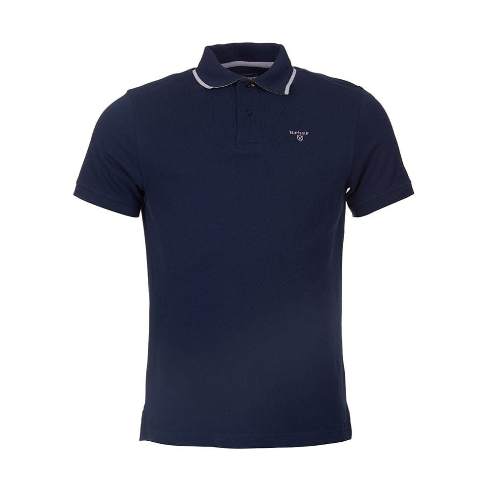 Barbour tipped sport mens polo mens from cho fashion and for Men s athletic polo shirts