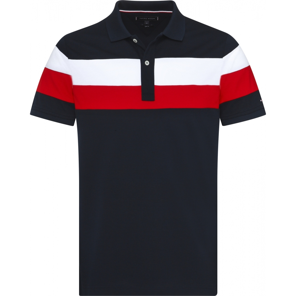 efb3981a81a Tommy Hilfiger Chest Stripe Mens Regular Slim Polo - Mens from CHO ...