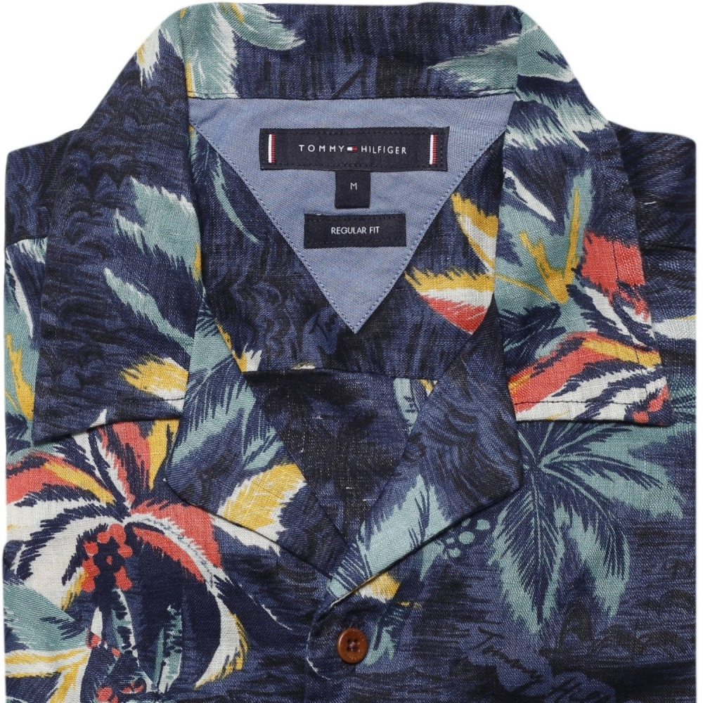 Stilla öarna Fascinera formell  Tommy Hilfiger Mens Hawaiian Print Shirt - Mens from CHO Fashion ...