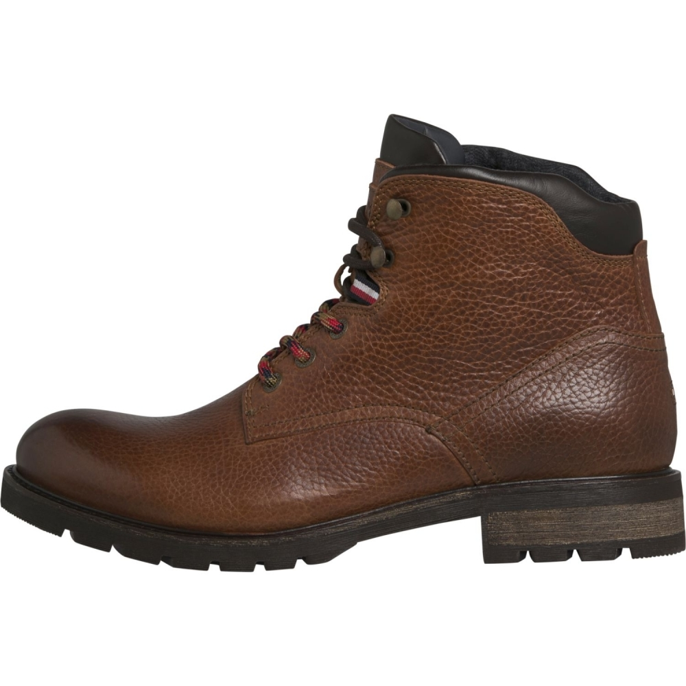 reputable site cd979 a839a Tommy Hilfiger Tommy Hilfiger Winter Textured Leather Mens Boot FM0FM02430