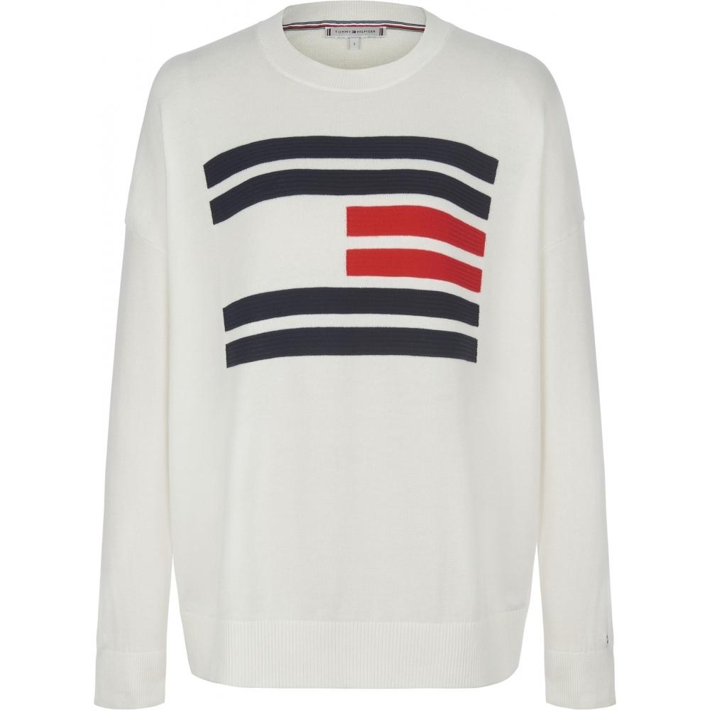 8ec52083e Tommy Hilfiger Womens Essential Flag Sweater. Tommy Hilfiger Essential  Printed T-Shirt