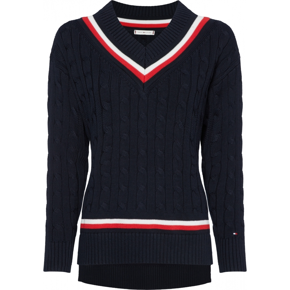 81c96d6d Tommy Hilfiger Womens Jenae V Neck Sweater - Womens from CHO Fashion ...