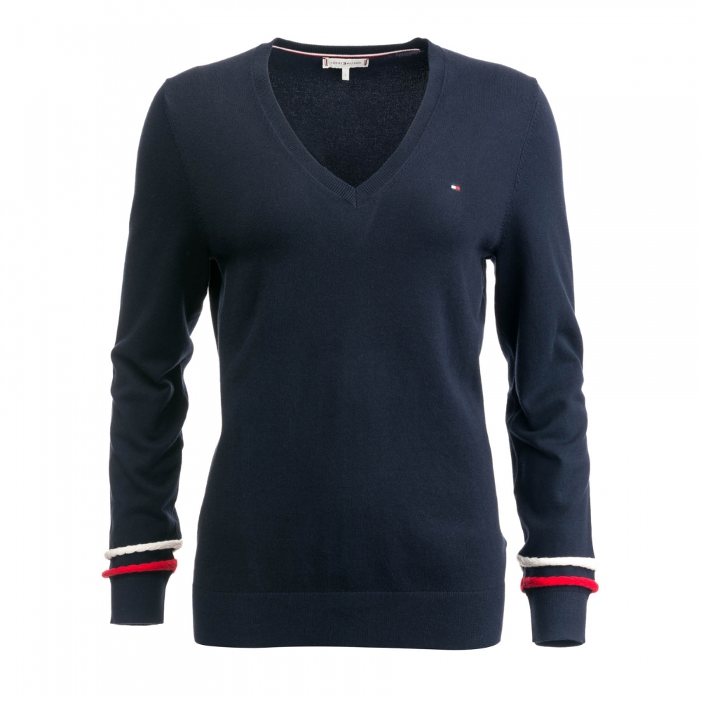 91192f2e6 Tommy Hilfiger Womens New Ivy V Neck Sweater - Womens from CHO ...