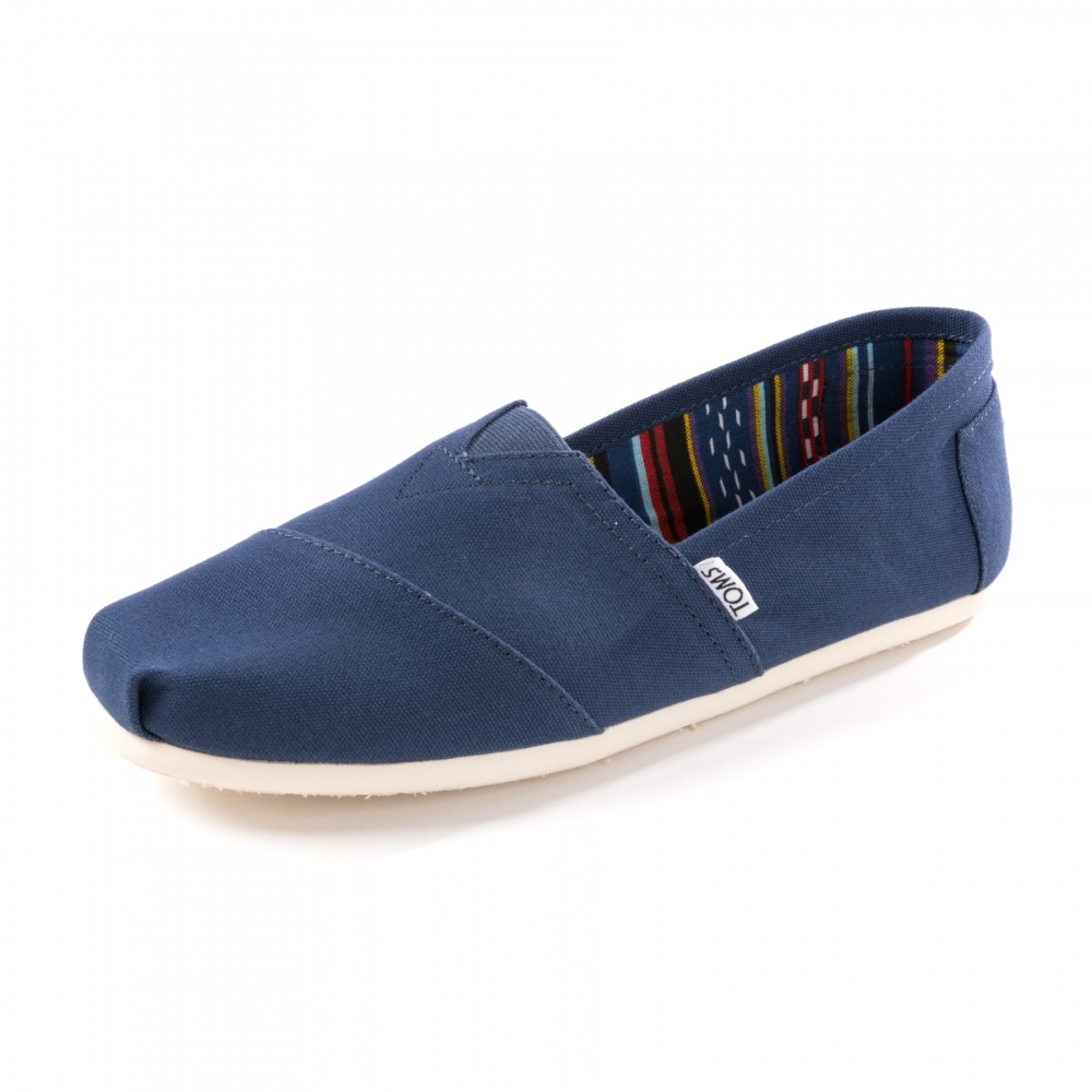 7a51b442290f TOMS Alpargata Navy Canvas Mens Classics - Mens from CHO Fashion and ...
