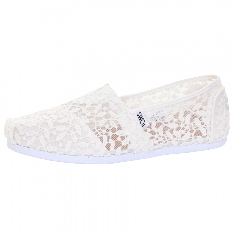 51229af3 TOMS Alpargata White Lace Leaves Womens Espadrille - Womens Shoes ...
