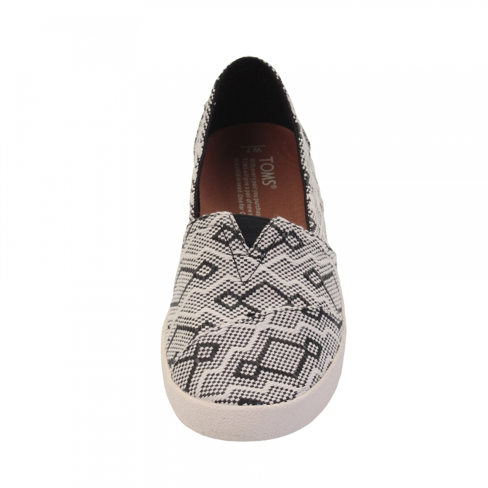 2e1f366ee93d TOMS Avalon Black Diamond Jacquard Womens Slip-On - Womens Shoes ...