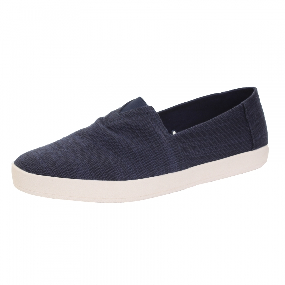 TOMS Avalon Navy Slub Linen Mens Slip-On - Shoes d86824de28