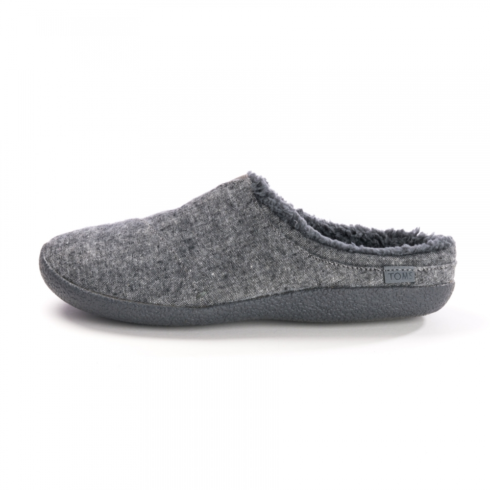 72c015546fa TOMS Berkeley Slipper Grey Slub Textile Mens Slipper - Footwear from ...
