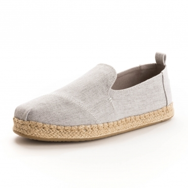 d8bb6728c8f TOMS Deconstructed Alpargata Rope Drizzle Grey Slub Chambray Womens  Espadrille