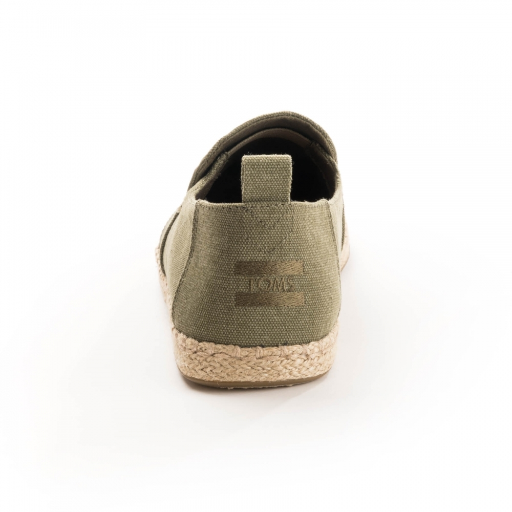 7792a63af60 TOMS Deconstructed Alpargata Rope Olive Washed Canvas  Rope Mens Espadrille