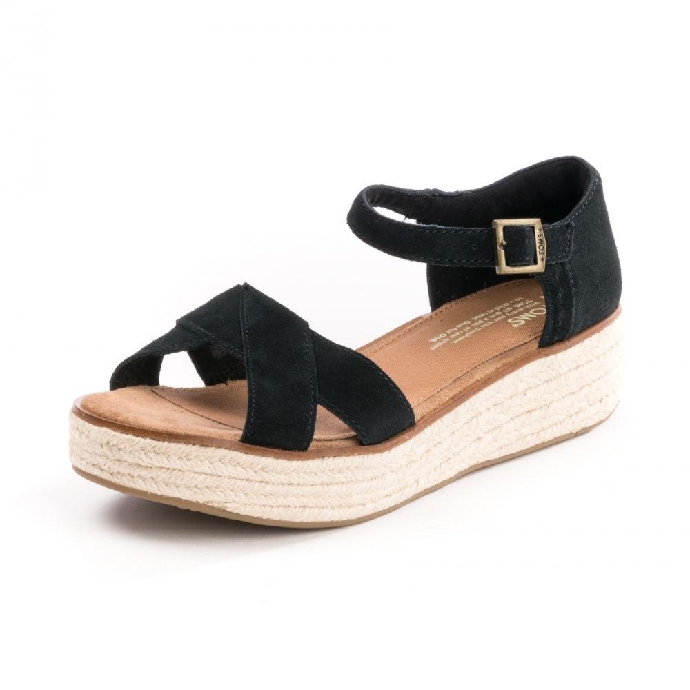 b87010c3857b TOMS Harper Black Suede Womens Wedge - Footwear from CHO Fashion and ...