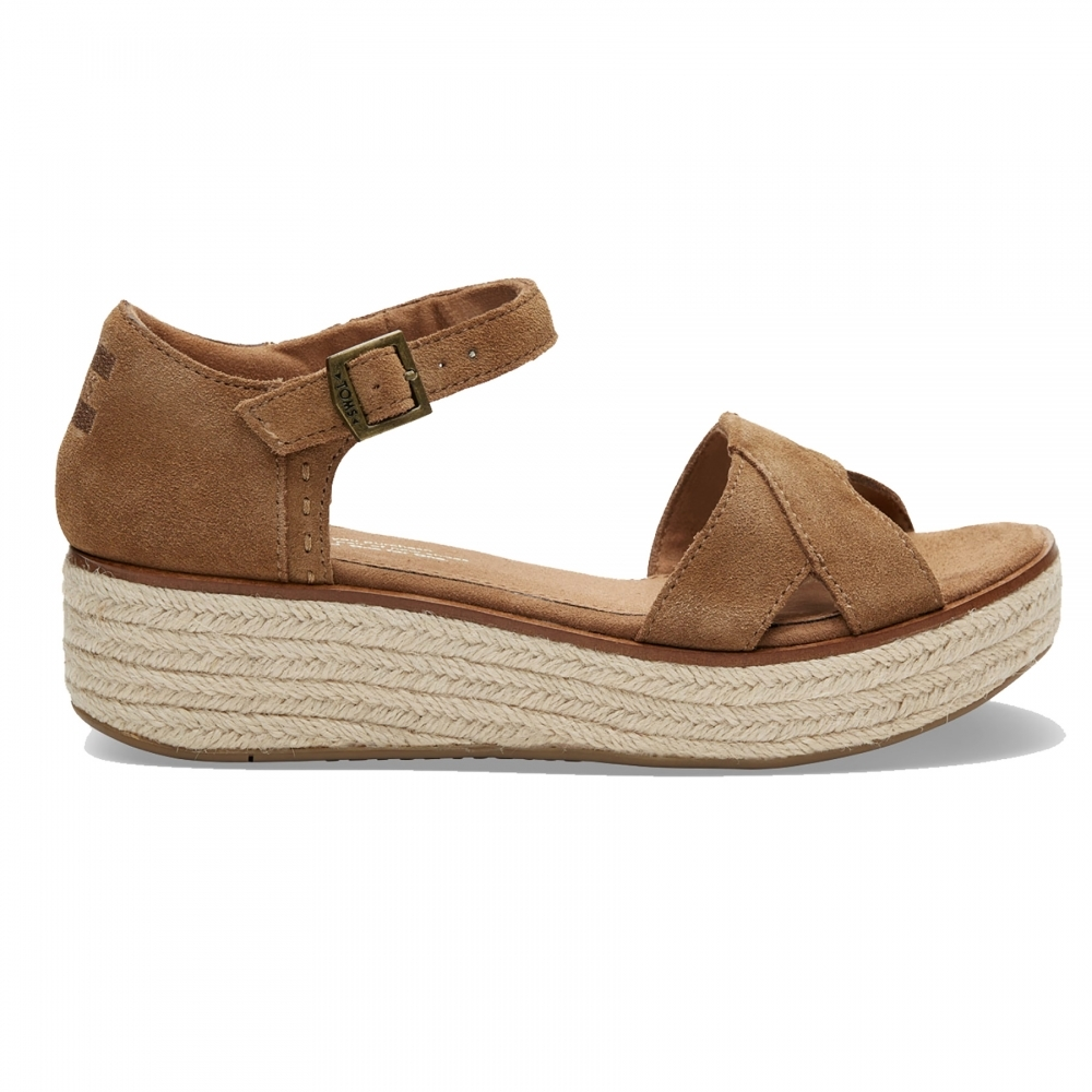 1bd3d5b47f2 TOMS Harper Toffee Suede Womens Wedge - Footwear from CHO Fashion ...